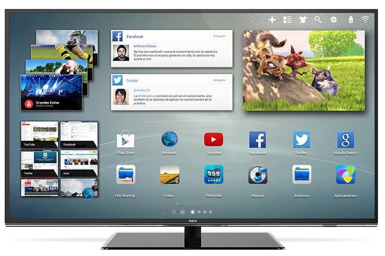rca present su smart tv 4k de 55 pulgadas. Black Bedroom Furniture Sets. Home Design Ideas