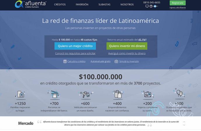 Afluenta alcanza los 100 millones de pesos en créditos