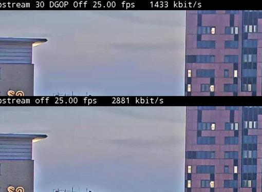 Tecnología de compresión de videos Zipstream reduce la tasa de cuadros a casi cero
