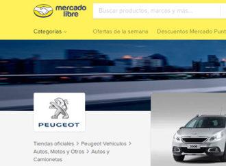 Peugeot lanzó su tienda oficial de vehículos en Mercado Libre