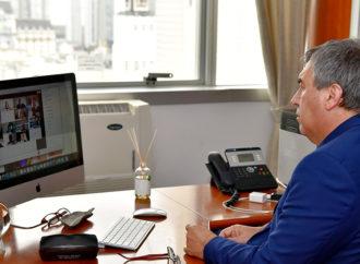 Claudio Ambrosini participó de un encuentro virtual con autoridades de AmCham